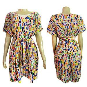 FASHION STAR Multi-Color Belted Womens Dress $79.0